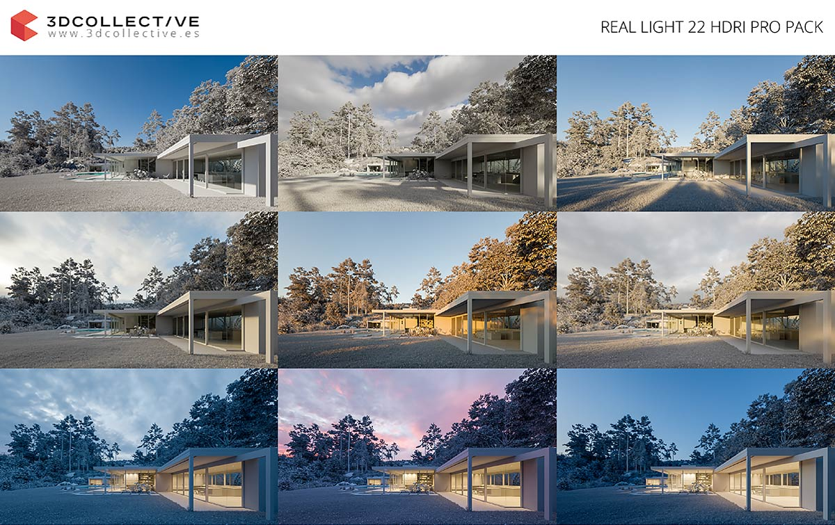 Download REAL LIGHT 22 HDRI PRO PACK : 3dcollective
