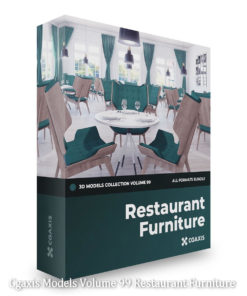 Download Cgaxis Models Volume 99 Restaurant Furniture