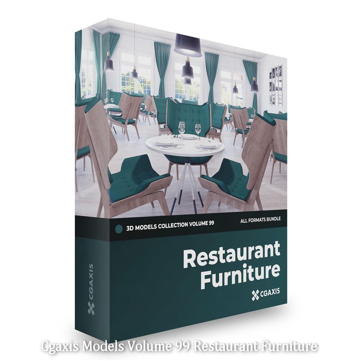 Download Cgaxis Models Volume 99 Restaurant Furniture
