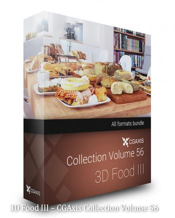 Download CGAxis Collection Volume 56 3D Food III