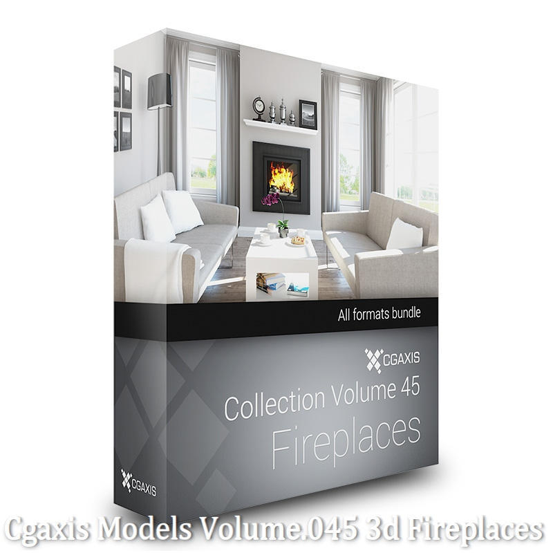 Download Cgaxis Models Volume.045 3d Fireplaces