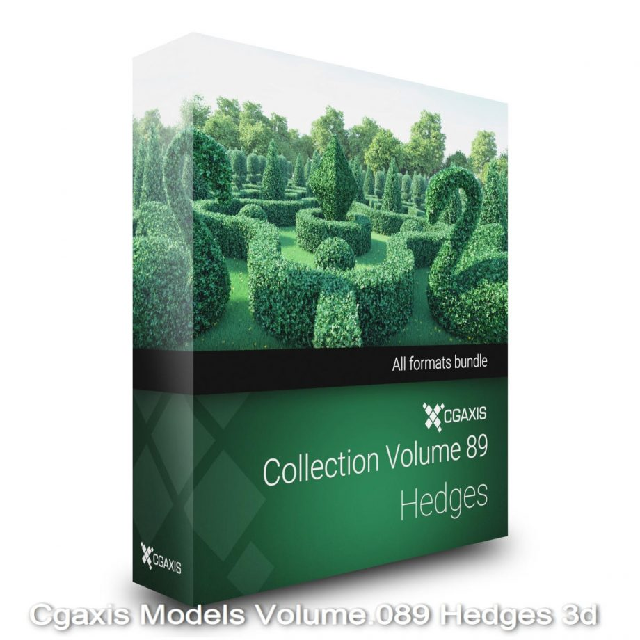 Download Cgaxis Models Volume.089 Hedges 3d