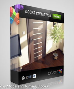 free Download CGAxis Models Volume 3 models of doors & handles