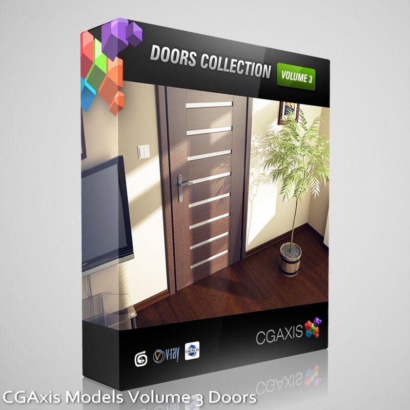 free Download CGAxis Models Volume 3 models of doors & handles
