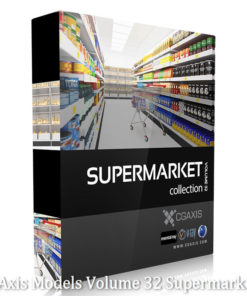 Download CGAxis Models Volume 32 Supermarket