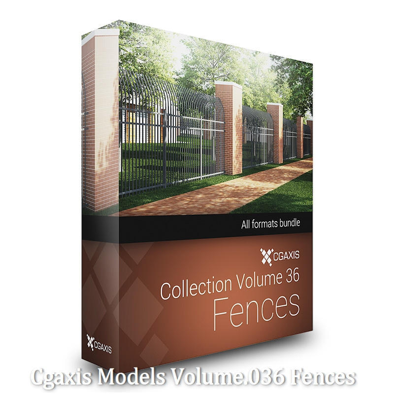 Download CGAxis Models Volume 36 Fences