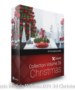Download CGAxis Models Volume 39 3D Christmas