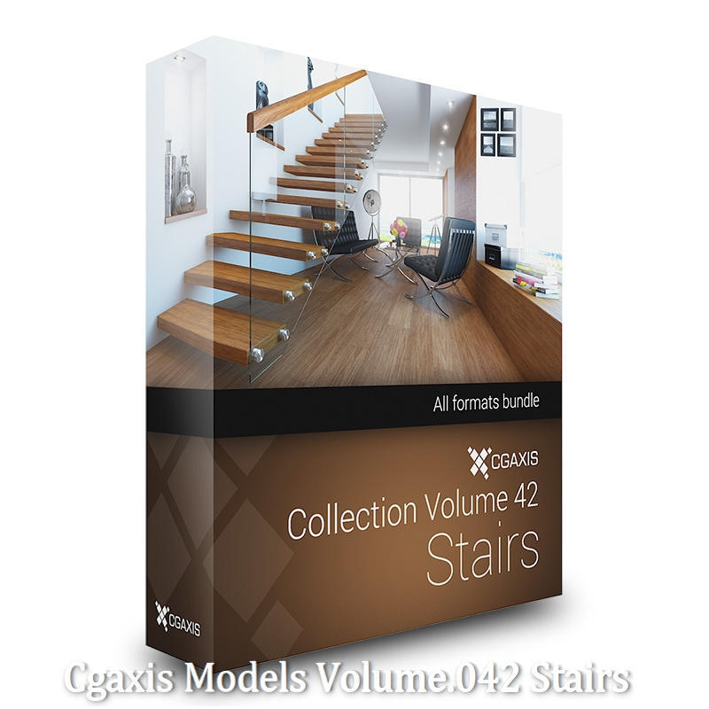Download CGAxis Models Volume 42 Stairs