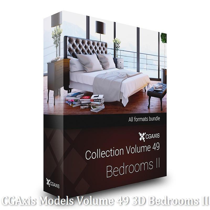 Download CGAxis Models Volume 49 3D Bedrooms II