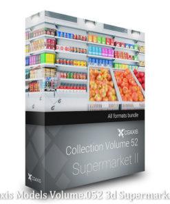 Download CGAxis Models Volume 52 3D Supermarket II