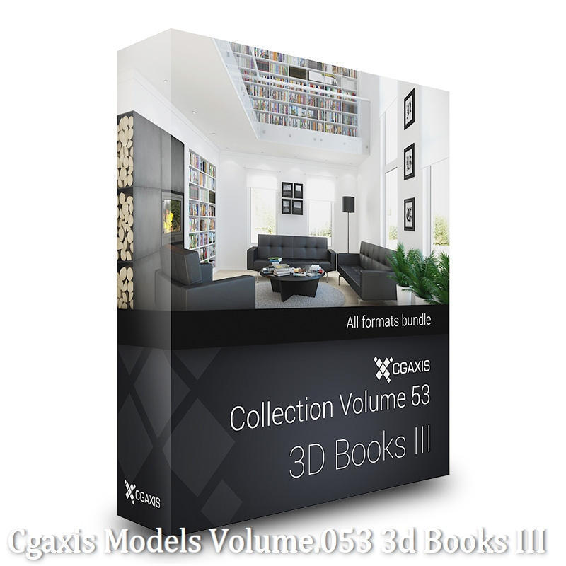 Download CGAxis Models Volume 53 3D Books III