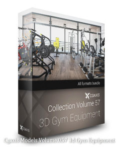 Download CGAxis Models Volume 57 3D Gym Equipment