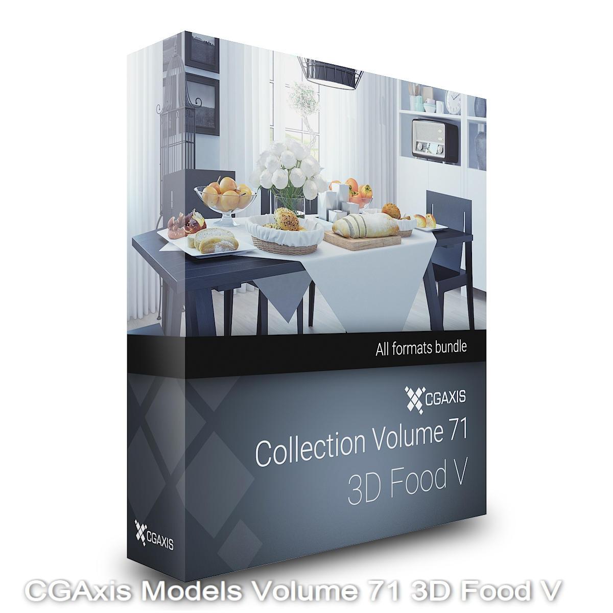Download CGAxis Models Volume 71 3D Food V