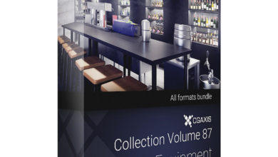 Download CGAxis Models Volume 87 Bar Equipment