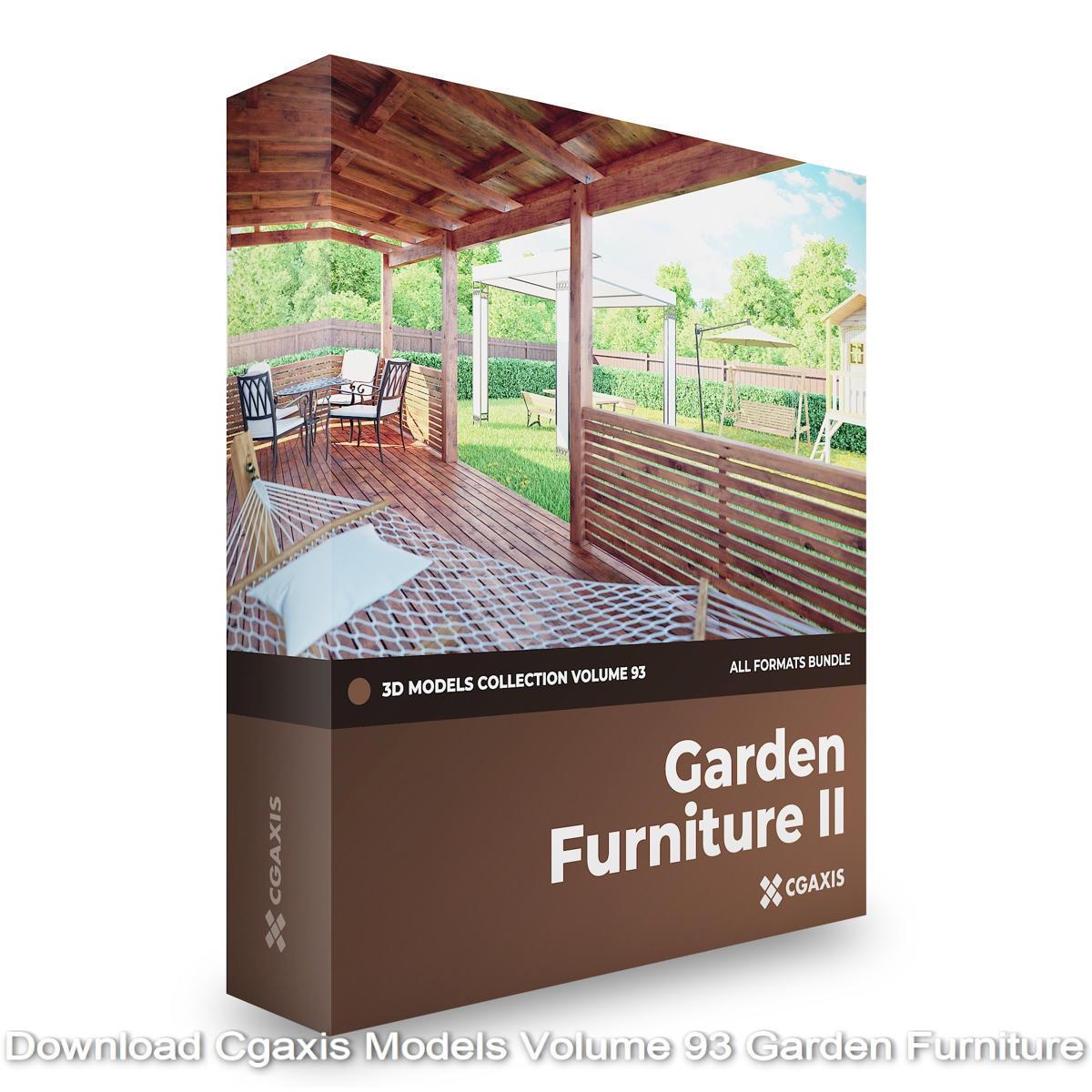Download Cgaxis Models Volume 93 Garden Furniture