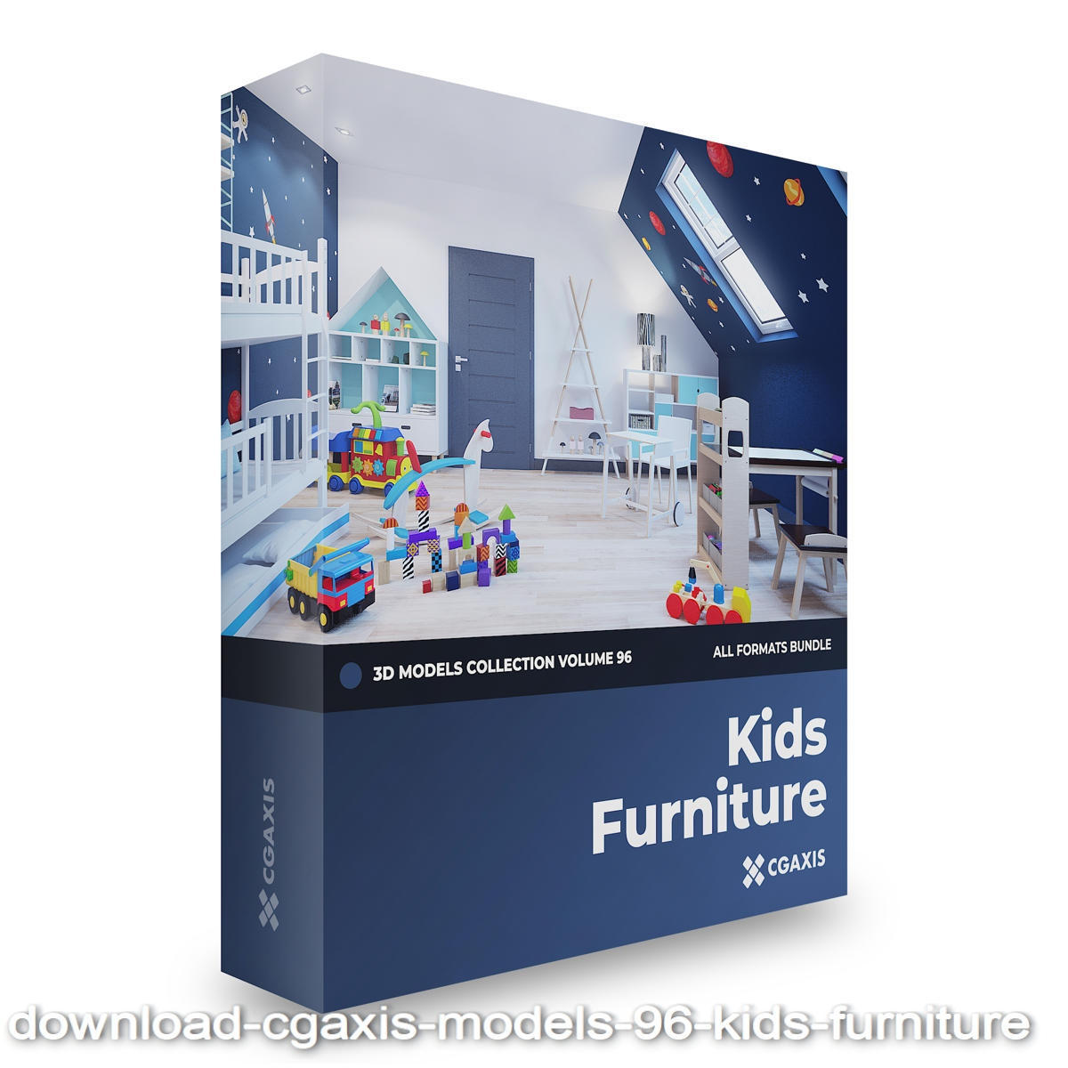 Download CGAxis Models Volume 96 Kids Furniture