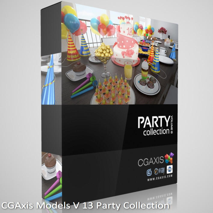 Download CGAxis Models Volume 13 Party Collection