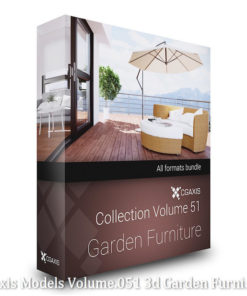 Download CGAxis Models Volume 51 3D Garden Furniture