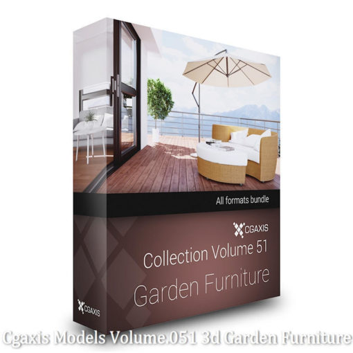 Download CGAxis Models Volume 51 3D Garden Furniture