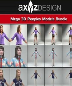 Download AXYZ DESIGN Mega 3D Peoples Models Bundle
