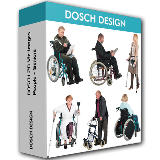 Photo of Dosch Design – 2D Viz People Seniors Handicapped