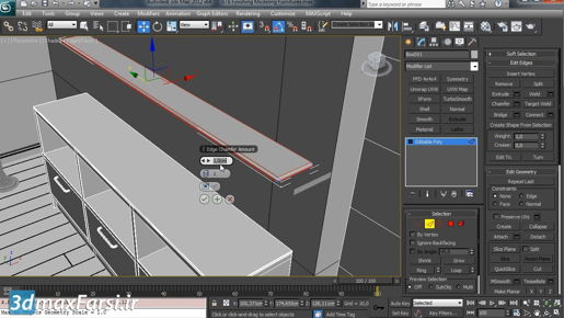 3ds max Spline Modeling Modeling walls with the Extrude modifier