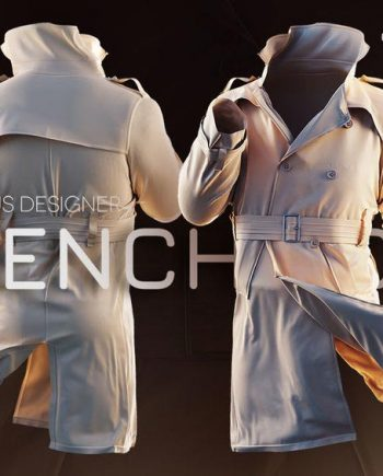 Creating a Trench coat using Marvelous Designer and ZBrush