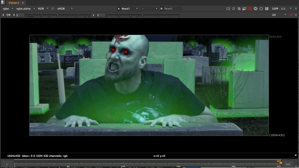 Compositing Zombies in NUKE free download