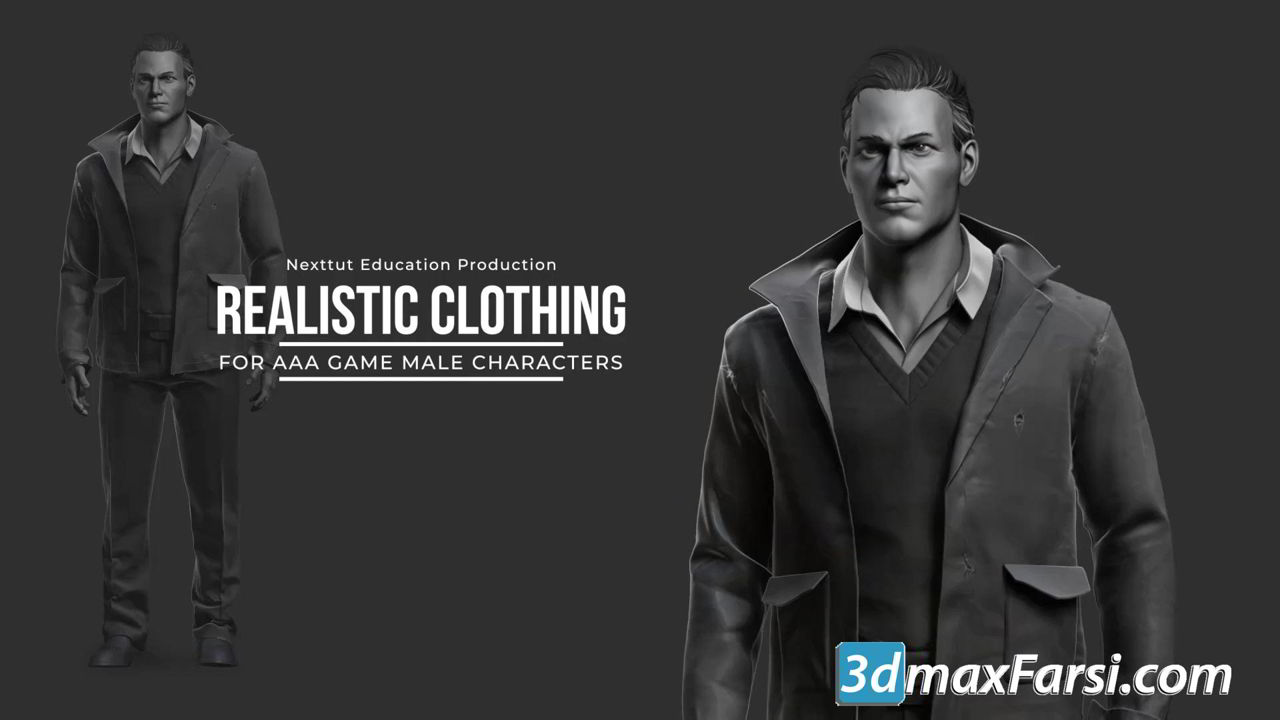 Realistic Clothing Workflow for AAA Game Male Characters free download