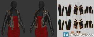 Marvelous Designer 7: Making a Biker Style Jacket : Gumroad free download