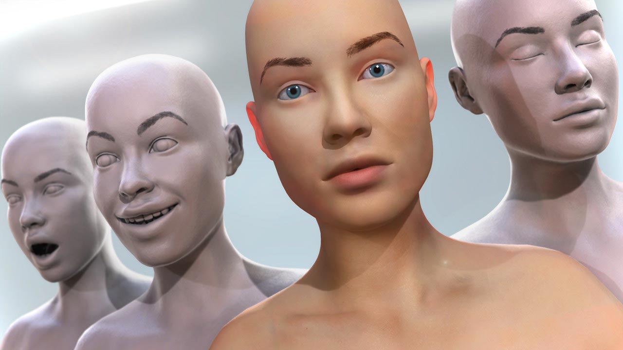 Creating Morph Targets for Facial Animation in 3ds Max and ZBrush