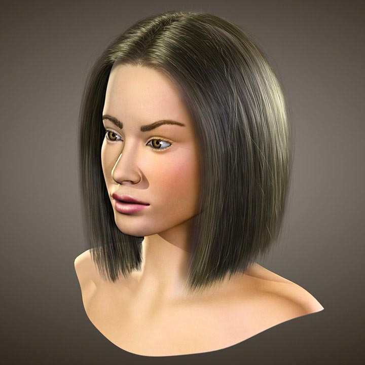 Photo of Realistic Hairstyling in 3ds Max and Hair Farm