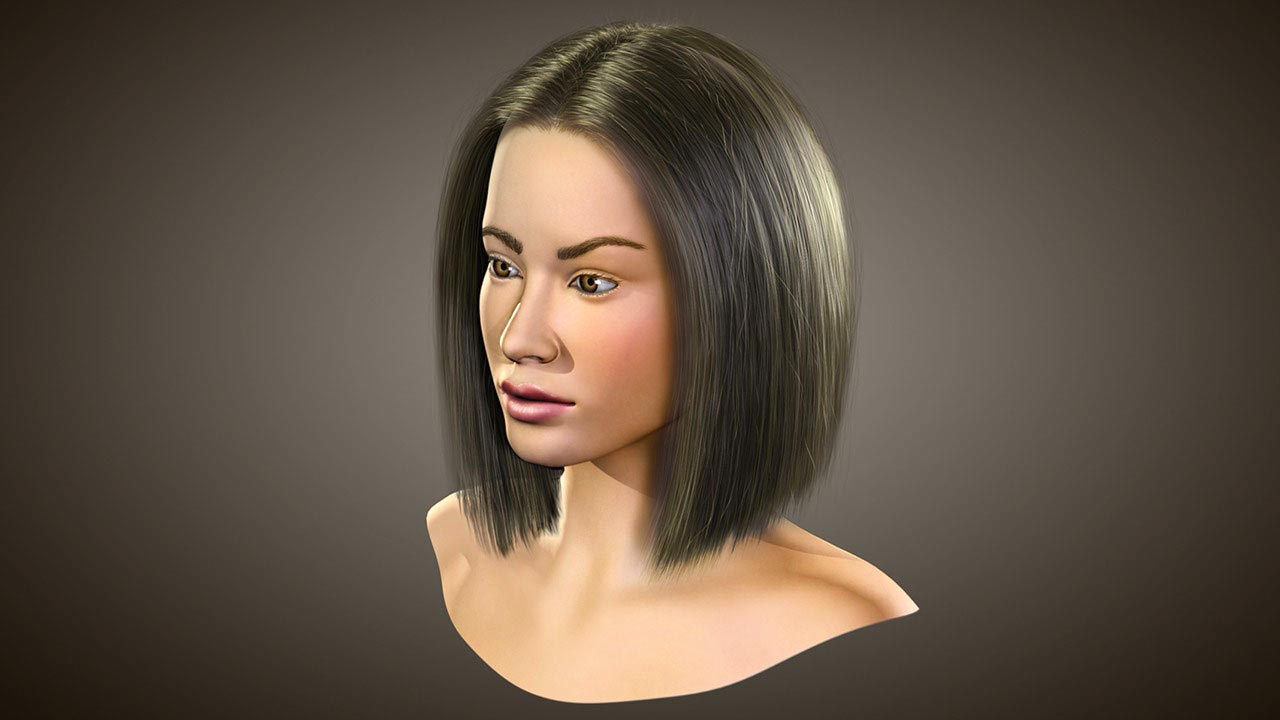 Realistic Hairstyling in 3ds Max and Hair Farm free download