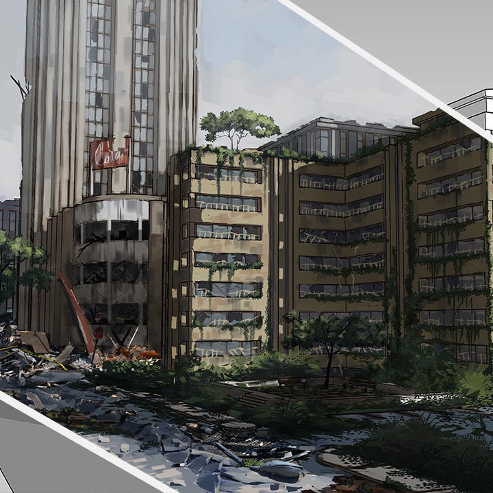 Enhancing Environment Concepts with 3D Paint-overs in SketchUp and Photoshop free download