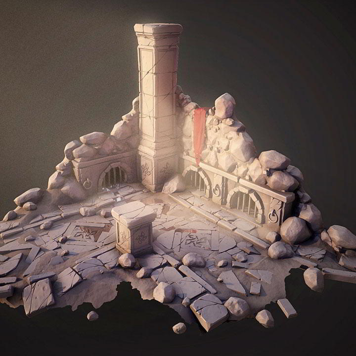 Photo of Sculpting a Stylized Game Environment in ZBrush and 3ds Max