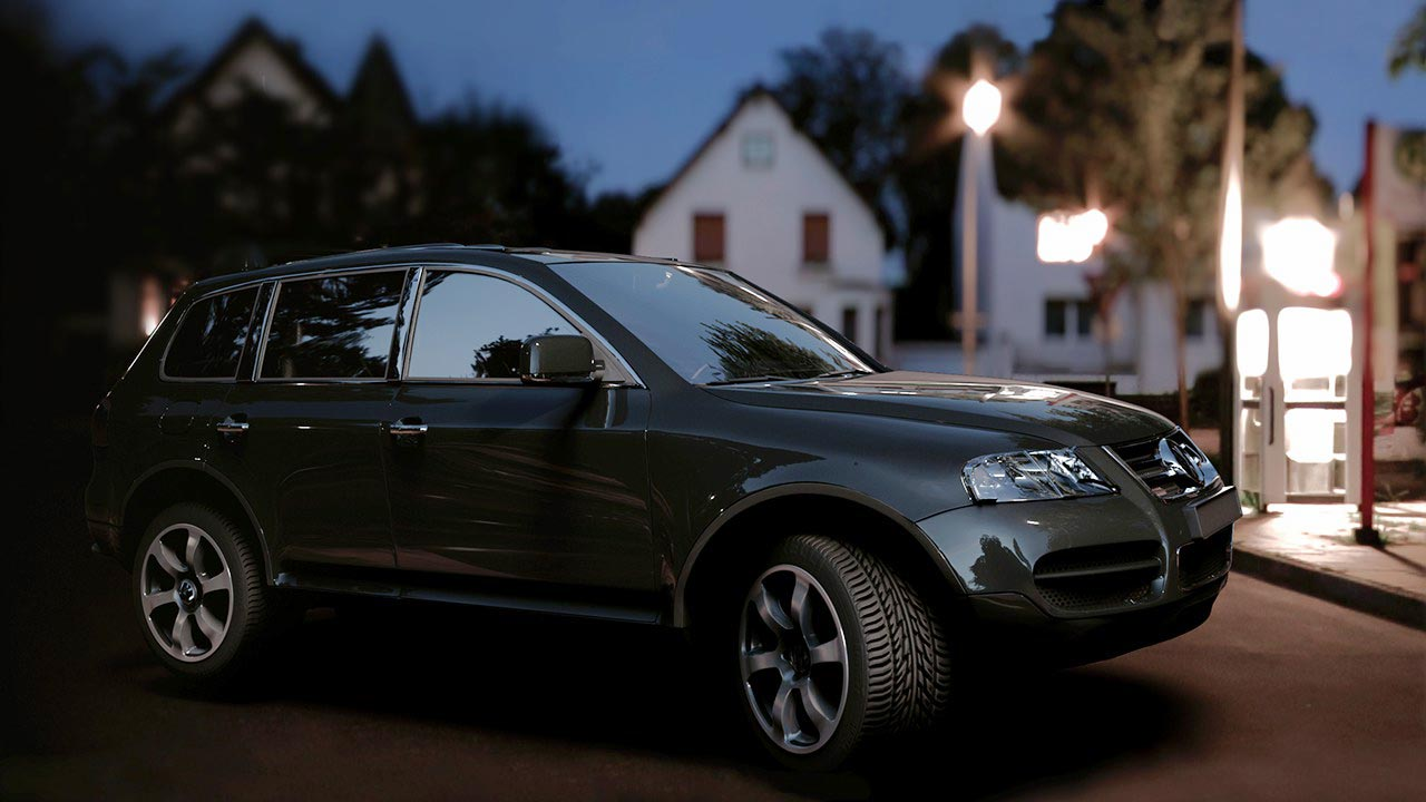 Lighting a Car with V-Ray in Maya free download
