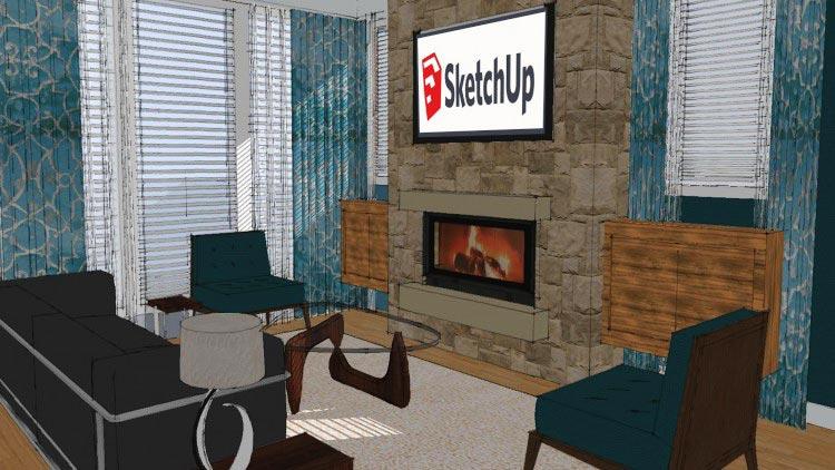 SketchUp BootCamp: Creating Interiors with SketchUp free download