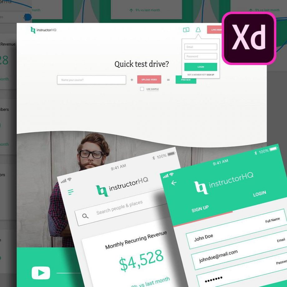 skillshare – UI/UX & Web Design using Adobe XD 2018 - User Experience Design Free download