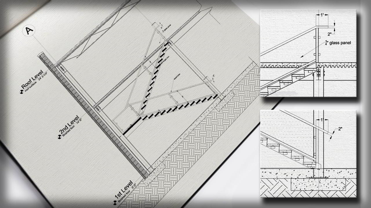 Drawing a Stair Detail in AutoCAD free download