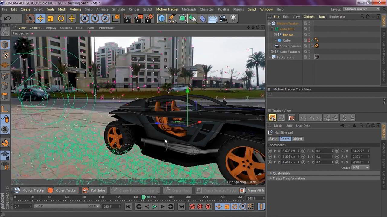 Motion Tracking in Cinema 4D (R20/ R21): Bring Your 3D Objects To Life