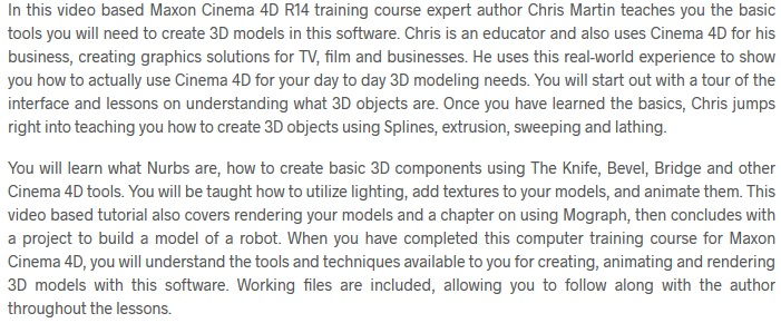 Learning Maxon Cinema 4D R14 Books & Videos