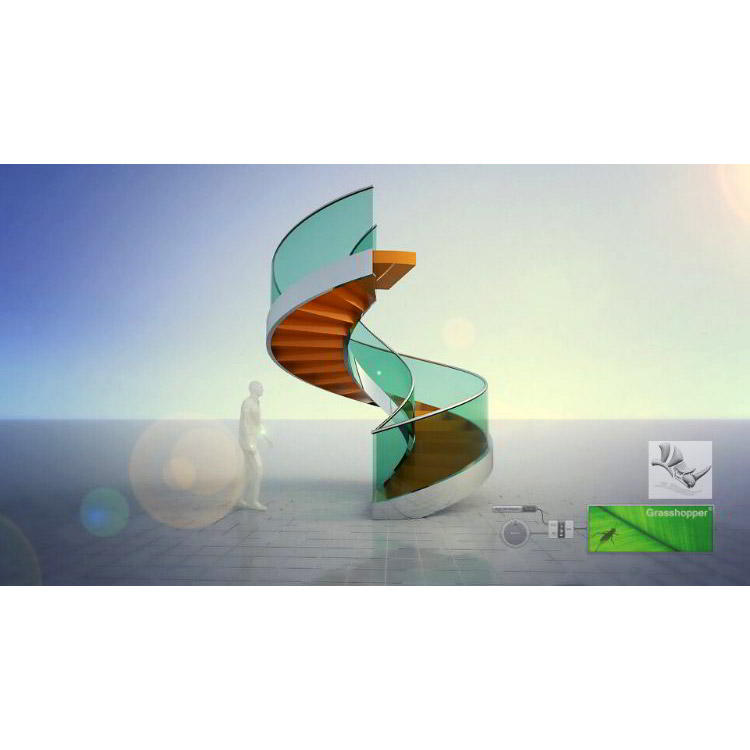 Photo of Parametric spiral staircase with Grasshopper for Rhino 3D