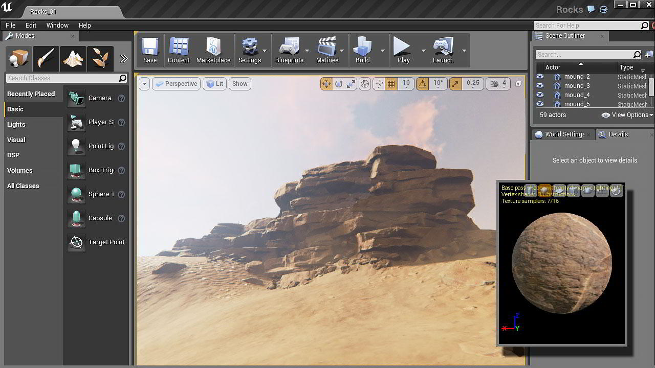 Creating Rock Structures for Games in ZBrush and Unreal Engine free download
