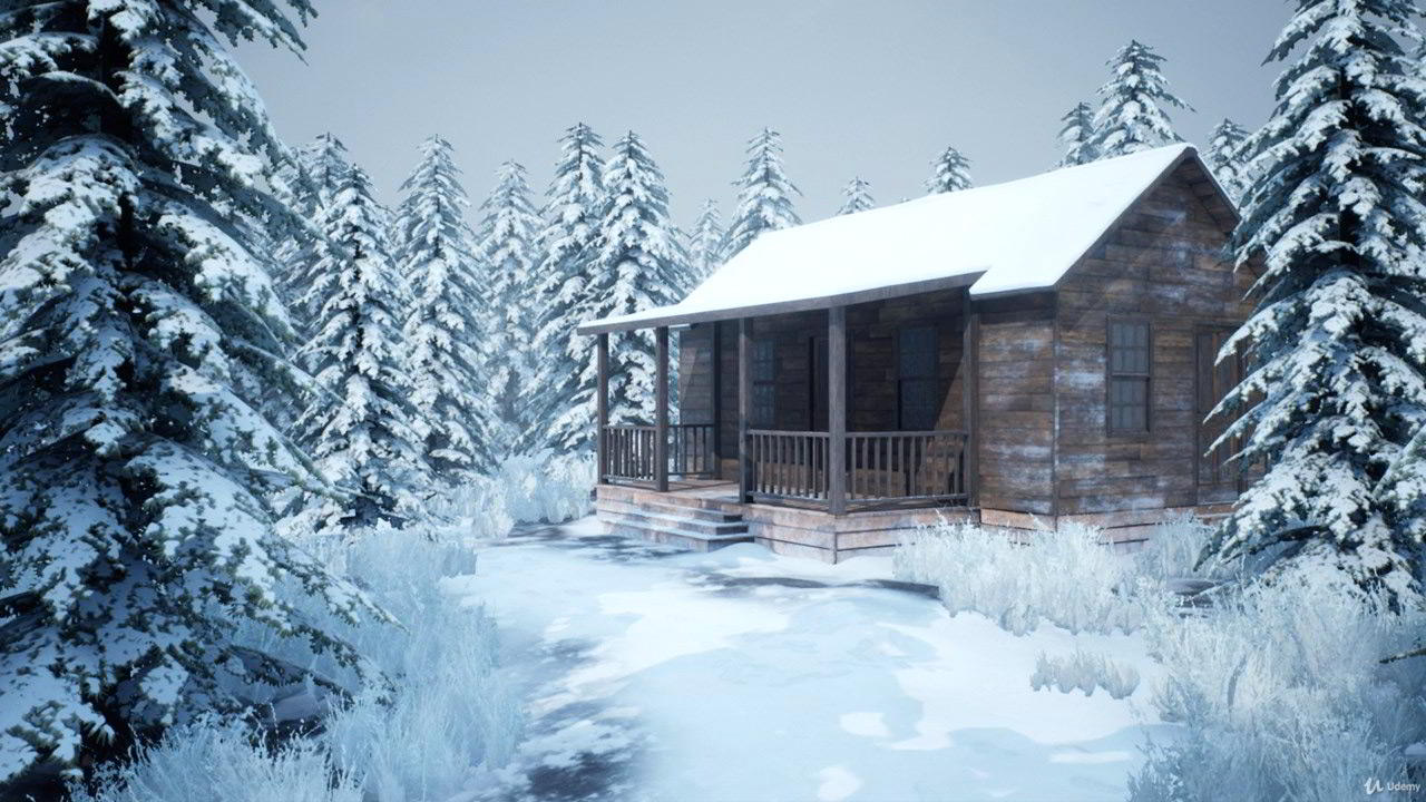 Realistic Snowy Game Environment Creation free download