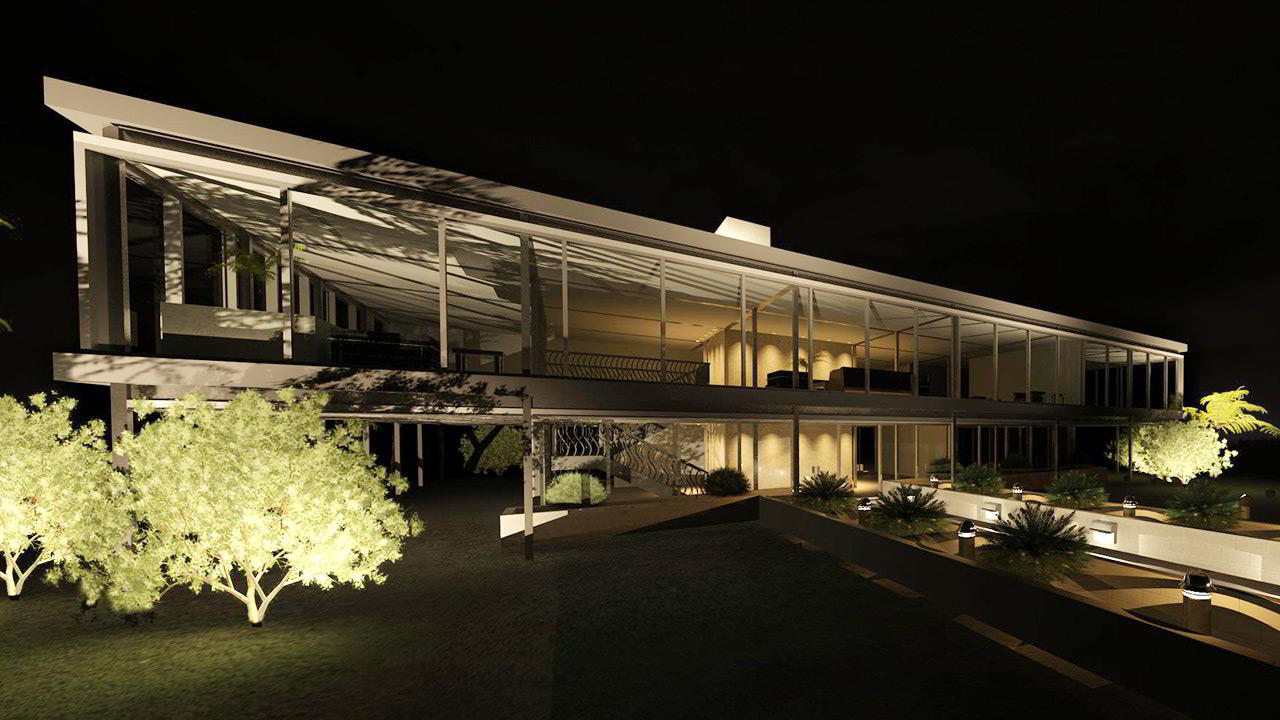 Using Exterior Lighting to Create a Night Scene Rendering in Revit free download