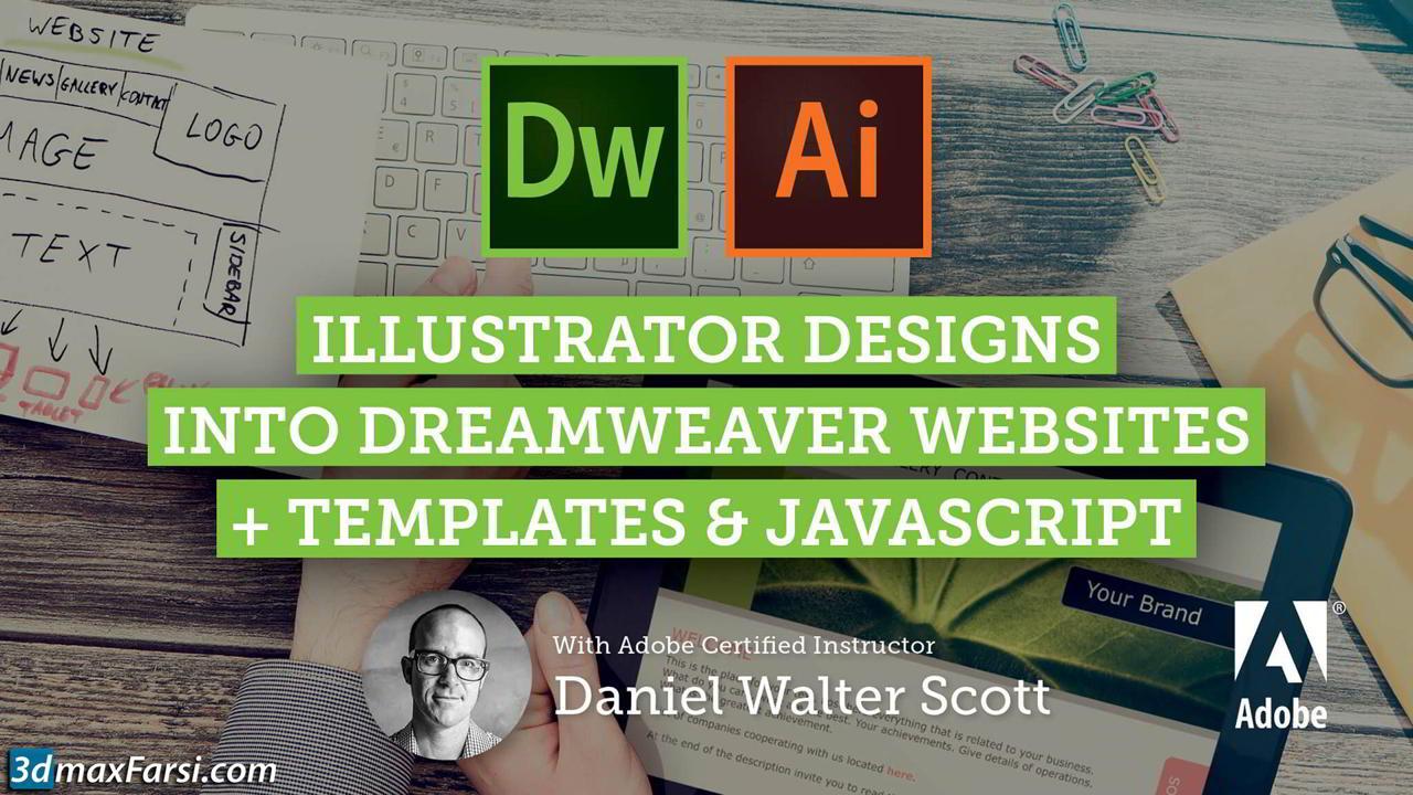 Adobe Dreamweaver CC Web Design from Adobe Illustrator Mockups free download