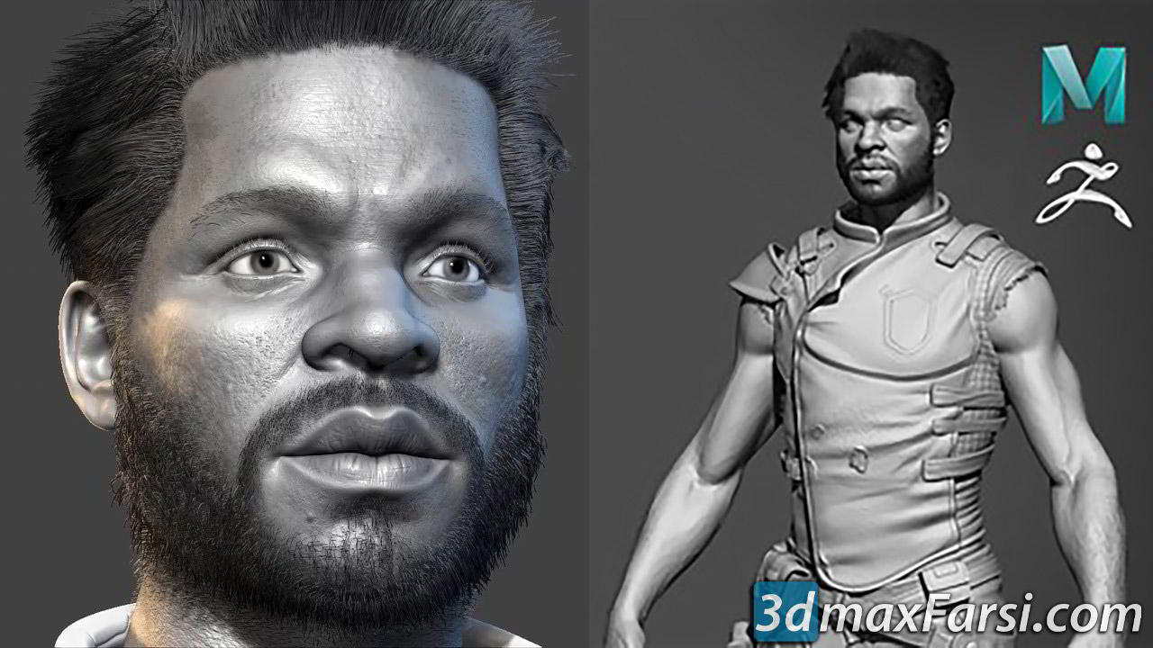Realistic Character Modeling For Game In Maya and Zbrush free download