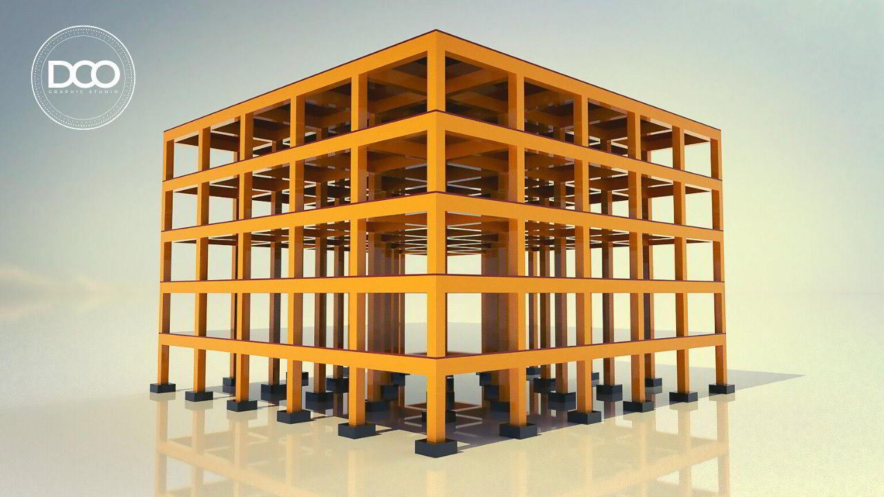 Rhino Grasshopper Complete Multi-floor Architectural Building Structure free download
