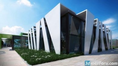 3d visualization , 3ds max, V-ray, Ps : 3D render The Museum free download