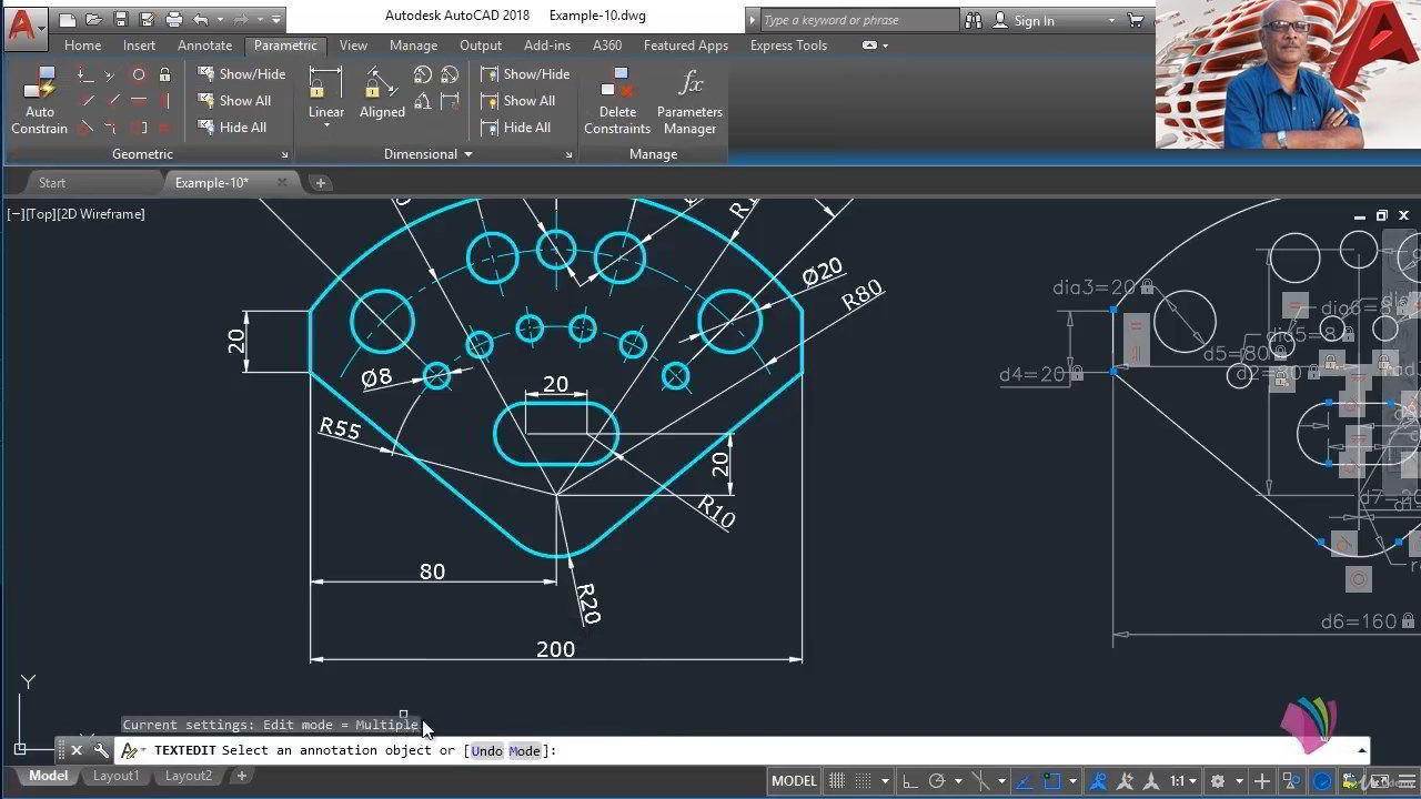 Udemy – Advanced AutoCAD 2021 : Parametric Drawing free download